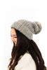 Multicoloured Knitted Toque - Grey