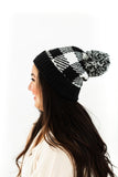 Checkered Toque - Black + White