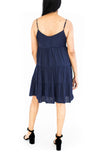Strappy Mini Tiered Dress - Navy