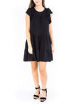 Tiered Ruffle Sleeve Dress - Black