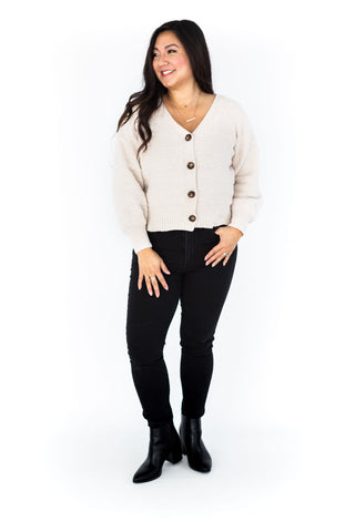 Long Sleeve Midi Cardigan - Onyx