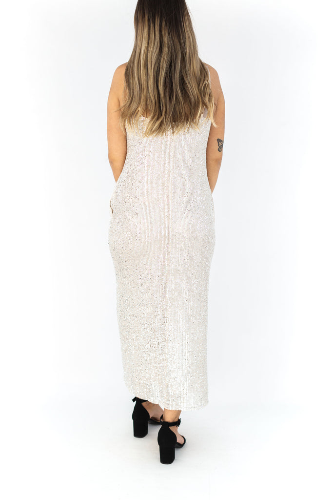 Maxi Sequin Dress with Pockets