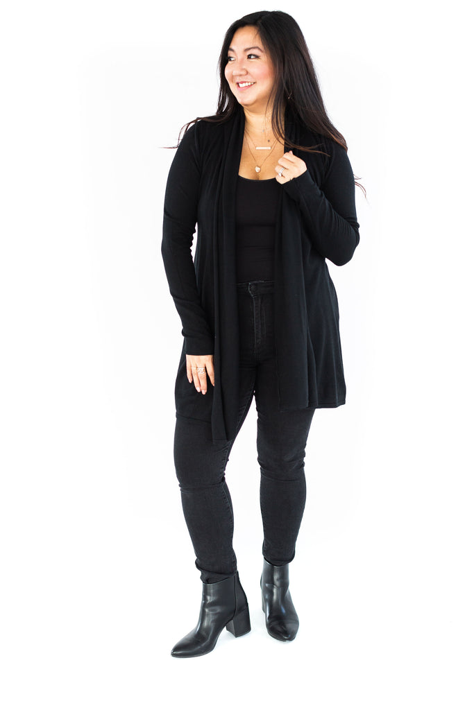 Open Cardigan - Black