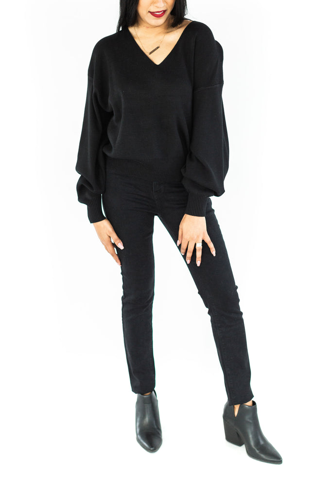 MTL - Black Ribbed Sweater