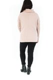 Cowl Neck Pull Over - Pink