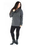Cowl Neck Pull Over - Grey