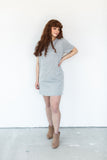 Casual T-Shirt Dress - Grey