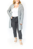 Button Front Knit Cardigan - Grey