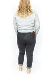 Button Down Cropped Cardigan - Grey