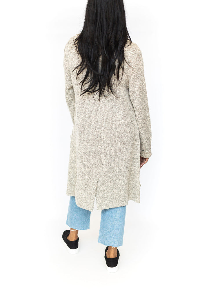 Button Front Knit Cardigan - Oat