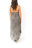 Animal Print Halter Dress - Taupe