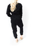 Denim Zip Jumpsuit - Black