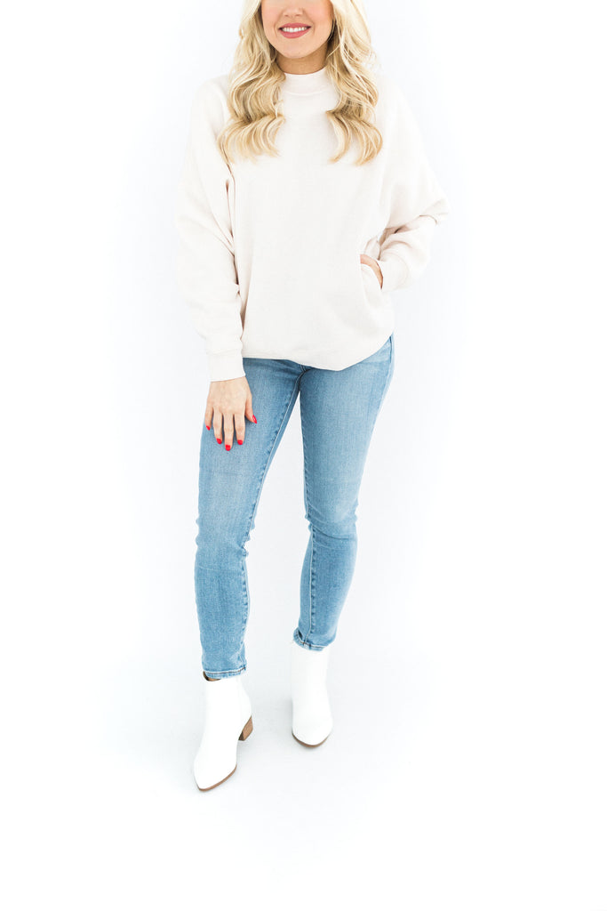The Troy Sweater - Cream