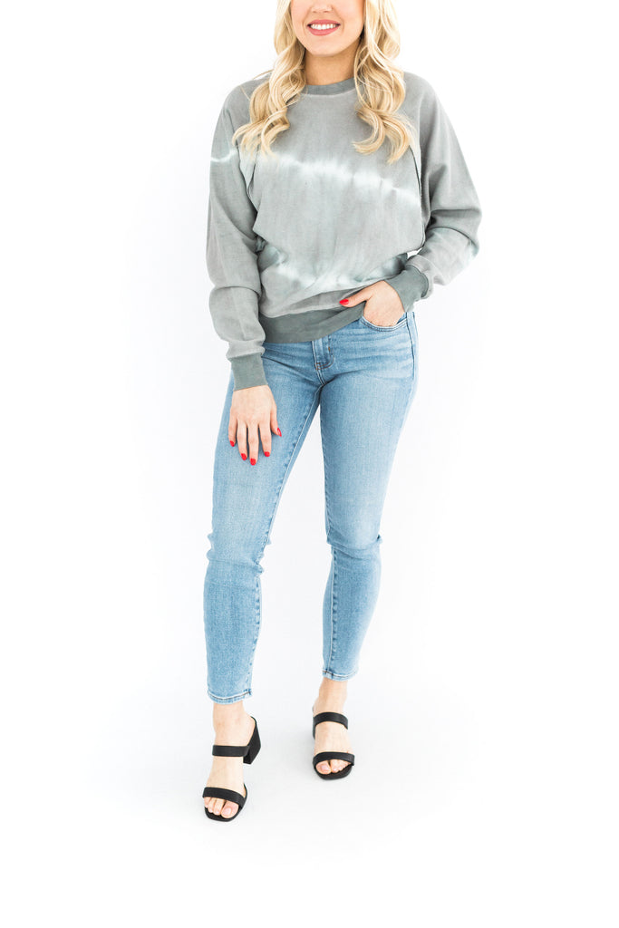 Charcoal Tie Dye Sweater