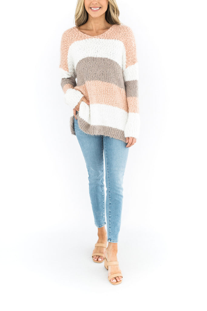 Colour Blocked Knit Sweater