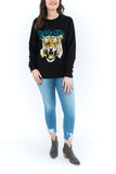 Roar Tiger Sweater - Black