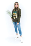 Roar Tiger Sweater - Olive