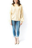 Mock Neck Basic Ribbed Sweater