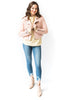 Blush Faux Suede Moto Jacket