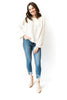 Cream Chenille Knit Sweater