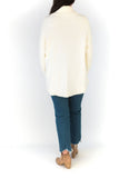Oversized Mock Neck Sweater  - Cream