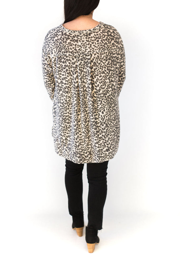 Ultra Soft Leopard Knit Shirt
