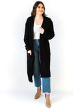 Light-Weight Fuzzy Cardigan - Black
