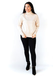 Cozy Knit Turtleneck Sweater - Cream