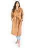 Open Coat with Waist Tie - Camel