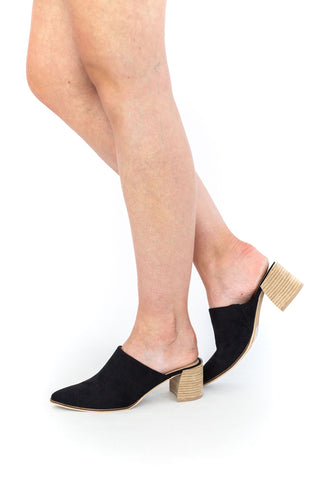 Hanker - Black Bootie with Side Elastic