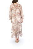 Dried Flower Ruffled Boho Maxi