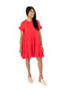 Solid Tiered Baby Doll - Red