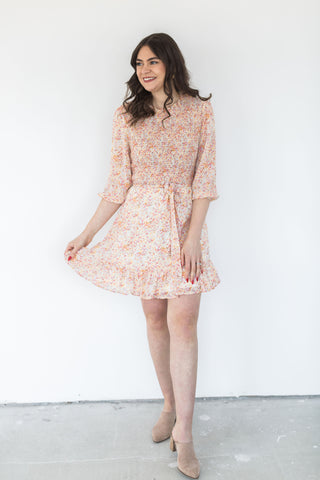 V-Neck Babydoll Dress - Blush