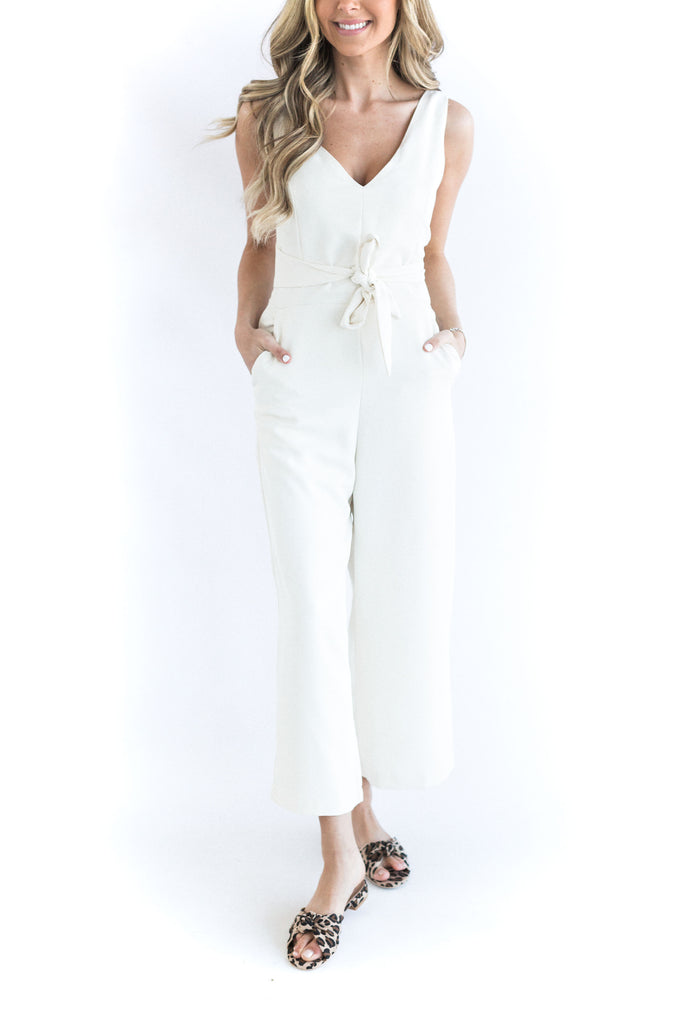 The Paige Jumpsuit - Cream