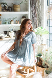 V-Neck Babydoll Dress - Deep Sage