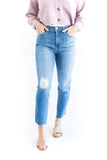 Distressed Raw Edge Skinny