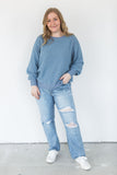 Textured Sweater - Steel Blue