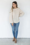 Textured Sweater - Cream