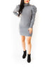Puff Sleeve Sweater Dress - Grey