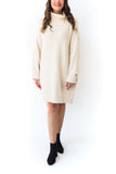 Turtle Neck Knit Sweater Dress