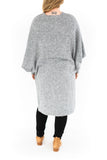 Dolman Sleeve Cardigan - Light Grey