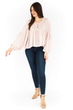 Balloon Sleeve Blouse - Bone
