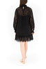 Crochet Lace Shift Dress - Black