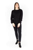 Shoulder Detail Knit Sweater - Black