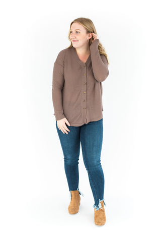 Turtle Neck Short Sleeve Tunic - Natural