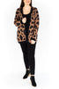 Open Oversized Leopard Cardigan - Coffee