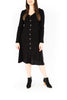 Button Down Midi Dress - Black