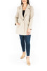 Classic Coat with Single Button - Oatmea