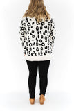 Cheetah Button Up Cardigan - Ivory