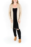 Long Sleeve Open Front Cardigan - Oat